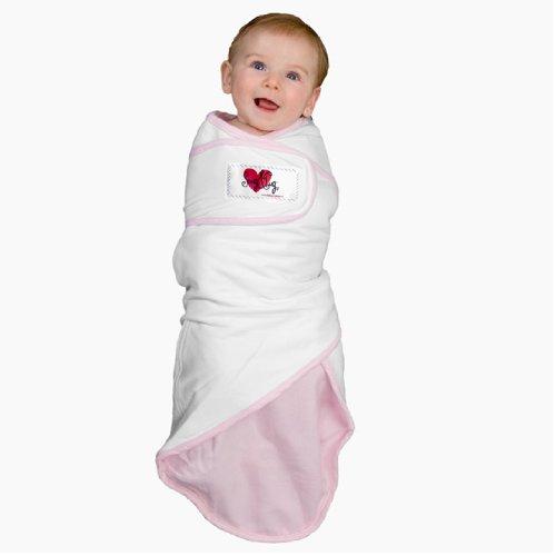 Go Mama Go Designs Snug and Tug Swaddling Blanket, Small, Pastel - Swaddling Tug Blanket