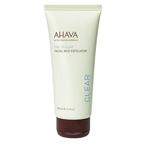 AHAVA Dead Sea Time to Clear Facial Mud Exfoliator, 3.4 Fl Oz Dead Sea Facial Mud