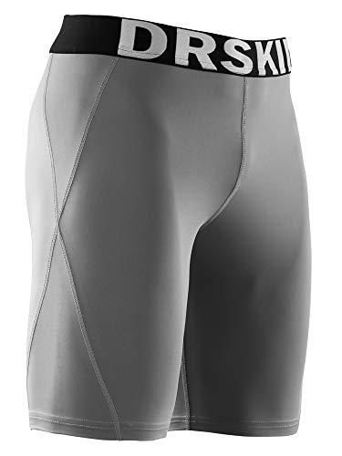 DRSKIN Compression Cool Dry Sports Tights Pants Shorts Baselayer Running Leggings Rashguard Men (M, DG033) Gray