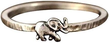 レディース ジュエリー アクセサリー レトロ リング アンティークシルバー 動物 象 指輪 (12)