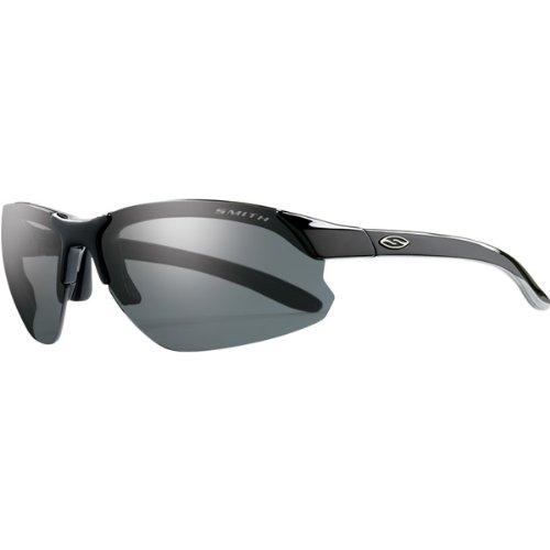 Smith Optics Parallel D-Max Premium Performance Rimless Polarized Outdoor Sunglasses/Eyewear - Black/Gray/Size 71-15-125