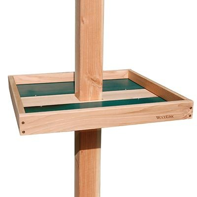 BestNest Woodlink Giant Post Mounted Seed Tray with 4 x 4 - X Cedar Post 4 4