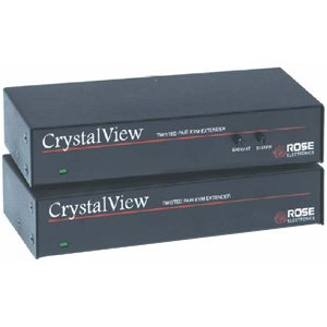 Rose Electronics CRK-1P/SUN/AUD CRYSTALVIEW CAT5 KVM EXTENDERSUN KVM EXTENDER KIT W/AUDIO & SERIAL(LOCAL, REMOTE