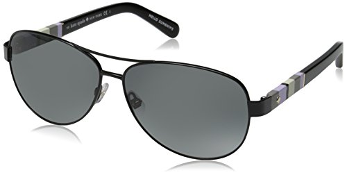 - Kate Spade Women's Dalia Aviator, Shy Black & Gray Gradient, 58 mm