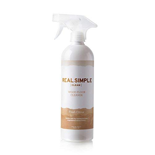 Real Simple Clean Hardwood Floor Cleaner, for Hardwood and Engineered Wood Floors, Can be Used with Spray Mop, USDA Certified Biobased Product, Made in USA, Fresh Citrus, 24 oz