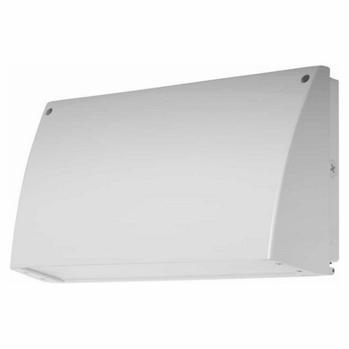 5100 K 2096 lm Color White Finish Cool 18W RAB Lighting SLIM18W SLIM LED Wallpack