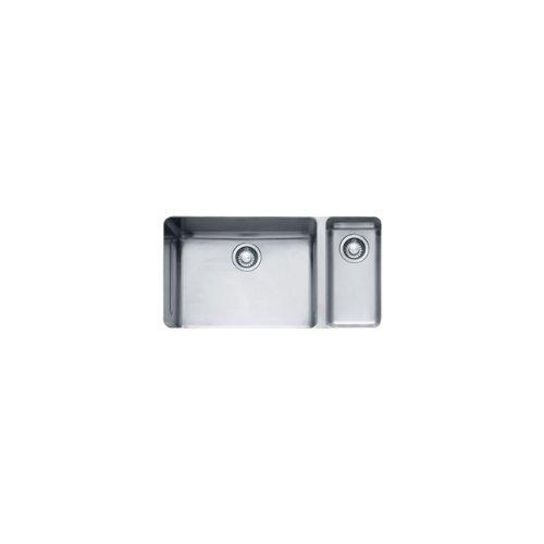 Franke KBX160 Kubus 15-Inch x 28-Inch Offset Double Bowl Undermount Kitchen Sink by Franke