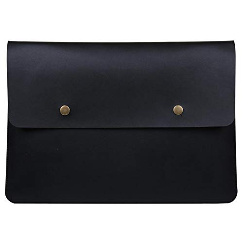 ZYX Tablet Computer Imitation Leather Bag, Suitable for 11.6-15.4 Inch Tablet Bag, Ultra-Portable Briefcase Carrying Bag Cover Computer Case Bag, Plus Lining,Black,15.4'' 15.4' Laptop Case Bag