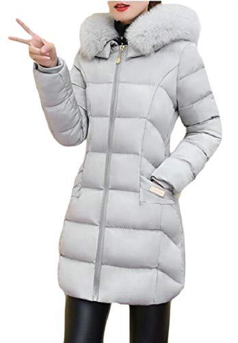 Donna Sicurezza Imbottito Parka Cappotto Con Cappuccio Da Invernale Lungo SxnPnC