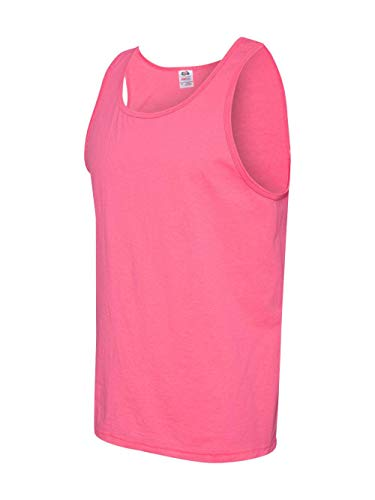 Fruit of the Loom Adult 5 oz. HD Cotton™ Tank M NEON PINK ()