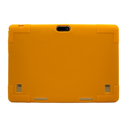 Transwon 10.1 Silicone Case Compatible with Lectrus 10.1, TenYiDe 10.1, Victbing Tablet 10 Inch, BATAI 10, Winsing 10, BENEVE 10.1,Yuntab K107 - Orange