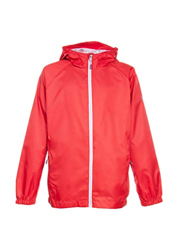 Swiss Alps Toddler/Young Boys Wind Resistant Lightweight Rain Jacket, Bold Red, 4