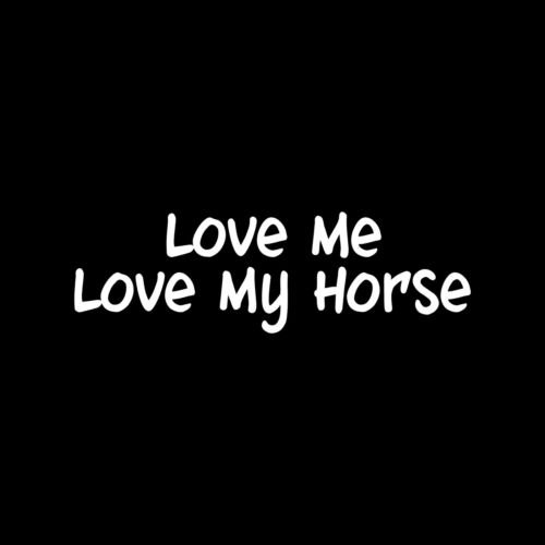 Used, LOVE ME LOVE MY HORSE Vinyl Sticker Decal Pet cowgirl for sale  Delivered anywhere in USA
