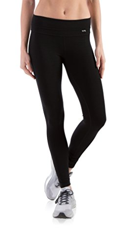 (Woolly Clothing Women's Merino Wool Legging - Wicking Breathable Anti-Odor M BLK)