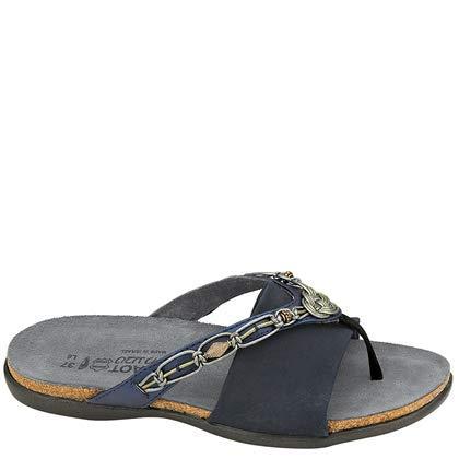 (NAOT Footwear Women's Jennifer Polar Sea Lthr/Navy Stretch Slide Sandal 8 M)