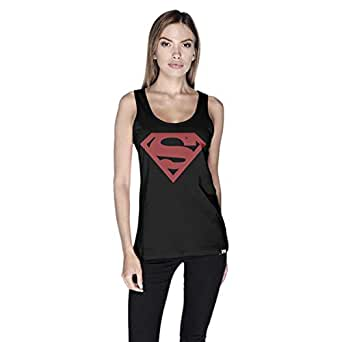 Creo Superman Red Tank Top For Women - M, Black