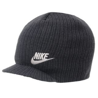 49d536594f5f9 Nike Ribbed Peaked Beanie Mens Black -  Amazon.co.uk  Sports   Outdoors