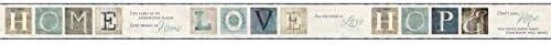 York Wallcoverings ac4365bd Keepsakes国引用符Border壁紙、クリーム、アクア、グレー、ブルー、トープ