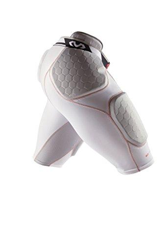McDavid Rival Pro 5-Pad Football Girdle Pants, White, XX-Large