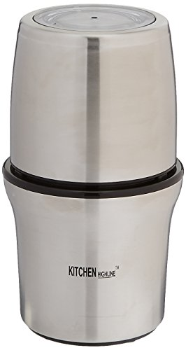 (Kitchen Highline SP-7412S Stainless Steel Wet and Dry Coffee/Spice/Chutney Grinder with Two Bowls)