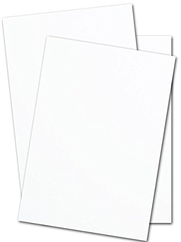 Heavyweight White Smooth Cover Stock - 110lb. / 297 gsm - Size 11'' X 17'' - 50 Per Pack by S Superfine Printing