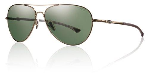 Sunglasses Active Lifestyle (Smith Optics Nomad Premium Lifestyle Polarized Active Sunglasses - Matte Gold/Gray Green / 59-17-140)