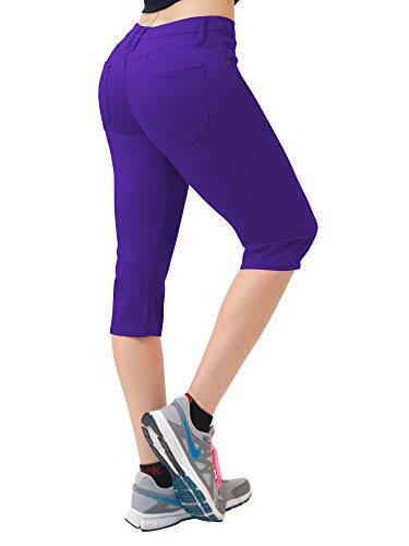 (Super Comfy Stretch Bermuda Shorts Q43308 Purple 15)