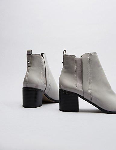 Finde Ankelstøvler Kvinder Med Syntetisk Læder Og Blok Hæl Grå (grå Lt) 8F8T5r8URr
