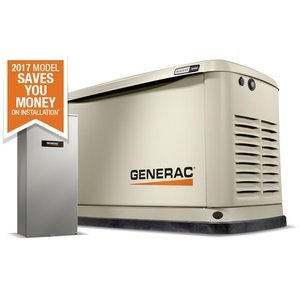 (Generac 7036 Guardian Series 16kW/16kW Air Cooled Home Standby Generator with 16 Circuit 100 Amp Transfer Switch)