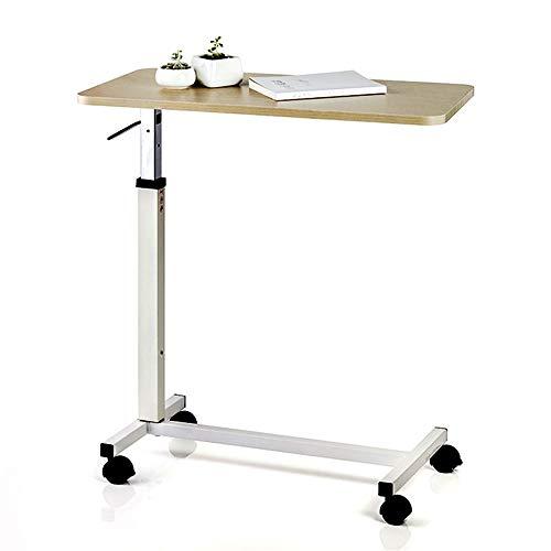NESSTIC Overbed Table with Wheels, Adjustable Hospital Medical Bed Table, Over Bedside Home Desk, Movable Sofa Side Table, Computer Desk for Reading, Eating, Bedridden, Elderly, Senior Patient Aid