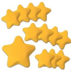 Star Shape 3 inches Stress Balls Pack of 12 ()