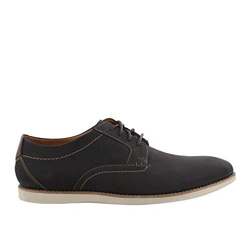 CLARKS Men's, Raharto Plain Toe Oxford Blue Nubuck 8 W from CLARKS