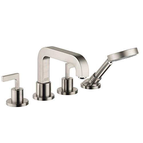 (AXOR Citterio 4-Hole Roman Tub Set Trim with Lever Handles with 1.8 GPM Handshower )