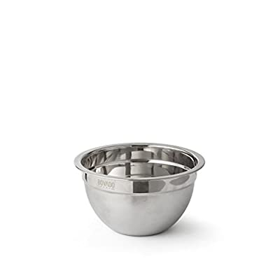 Stainless Steel Mixing Bowl - Flat Bottom Non Slip Base, Retains Temperature, Dishwasher Safe - By Bovado USA