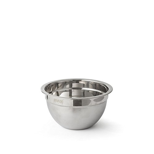 Stainless Steel Mixing Bowl - 1qt - Flat Bottom Non Slip Base, Retains Temperature, Dishwasher Safe - By Bovado (1 Quart Ml)