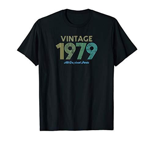 Cool Vintage 1979 All Original Parts 40th Birthday T-Shirt Baby Original Vintage T-shirt