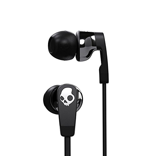 Skullcandy Strum Earbud with Universal In-Line Microphone and Remote, Supreme Sound Acoustics, Flexible Design To Match All Ears, Tug and Pull Resistant, Street/Black -