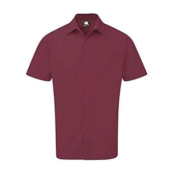 ORN Workwear 5400 The Essential - Camisa, color granate, talla 18,5: Amazon.es: Amazon.es