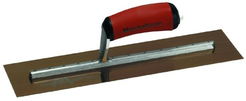 MARSHALLTOWN The Premier Line MXS66GSD 16-Inch by 4-Inch Golden Stainless Steel Finishing Trowel with DuraSoft Handle