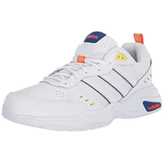 adidas Men's Strutter Sneaker, FTWR White/FTWR White/Shock Yellow, 8 M US