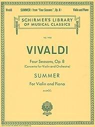 G. Schirmer Summer From Four Seasons Violin / Piano Op 8 By Vivaldi