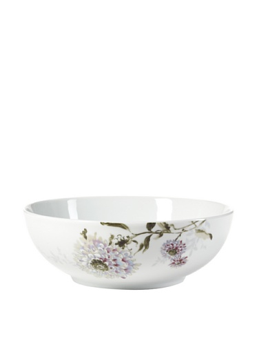 Mikasa Silk Floral Lavender Vegetable Serving Bowl, 9-Inch ()