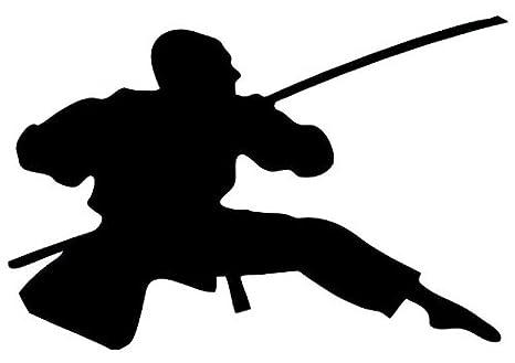 Amazon.com: Wallmonkeys WM176835 Action Ninja Silhouette-6 ...