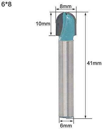 pour acrylique agglom/ér/é PVC etc MDF 1x Fraise /à gorges en carbure utilis/és pour la gravure 3D 6 * 8mm bleu largeur de coupe 6-32mm tige de 6mm pierre artificielle