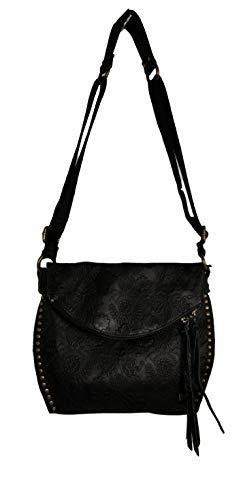 (The Sak Silverlake Tooled Saddle Leather Crossbody Bag)