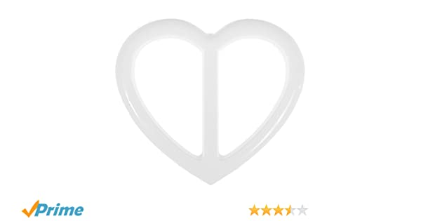 Mibo Heart Shape Buckle 40mm Inside Bar White