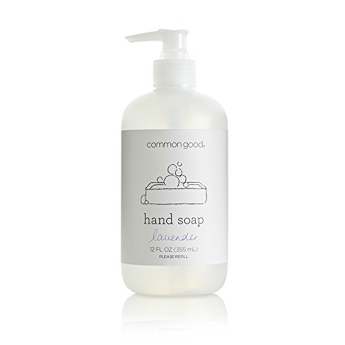 Common Good - Hand Soap, Plant-Based with Pure Essential Oil Scents, Biodegradable Formula, No Parabens or Sulfates, Leaping Bunny Certified (Lavender, 12 oz)