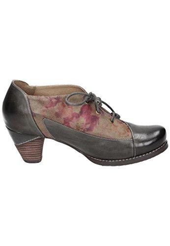 Manitu Manitu Damen Schnürer - Zapatos de cordones de Piel para mujer marrón marrón Grn
