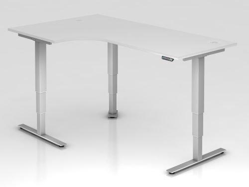 Hammerbacher Schreibtisch XDSM82 weiß/silber, VXDSM82/W/S