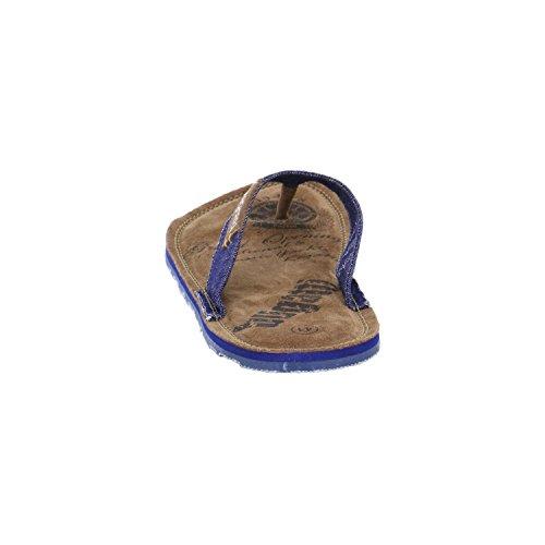 BUGATTI Zehensteg Pantolette Zehengreifer F5880-6 jeans -455-
